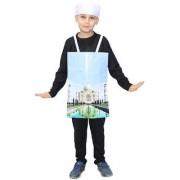 Kaku Fancy Dresses Taj Mahal Fancy Dress for Kids/Indian Wonders Costume-Multicolor 3-8 Years for Unisex