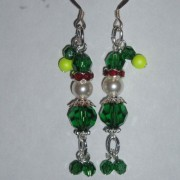 Christmas Elf Earrings Swarovski Crystal Sterling Sparkly