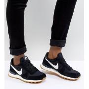 Nike - Internationalist - Svartvita träningsskor i nylon - Svart