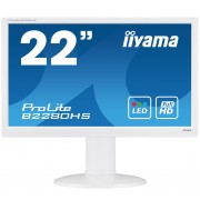 iiyama 21,5' WHITE, 1920x1080, 13cm Height Adj. Stand, Pivot, 250cd/m², Speakers, VGA, DVI, HDMI, 5ms
