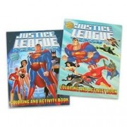 DC Heroes activity book - Justice League coloring books with easy tear-out pages (2 book)