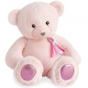 Doudou et Compagnie - OURS CHARMS - ROSE SORBET 40 CM