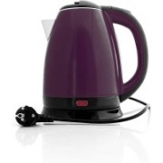 Gabbar 1.8L 1500W Borosilicate Glass Tea Kettle, Fast Heating LED Cordless Kettle, Auto Shut-Off Boil-Dry Protection Stainless Steel Inner Lip, Tea Pot, BPA-Free, Water Boile Electric Kettle(1.8 L, Purple, Black)