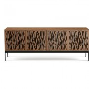 BDI Elements 8779 with Wheat Doors, Console Base and Natural Walnut Finish