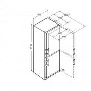 GARANTIE 4 ANI Combina frigorifica Liebherr, clasa A++, congelator NoFrost, usi inox SmartSteel CNef 4015