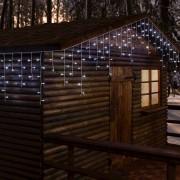 Luci Da Esterno Stalattite 20,16 x 0,6 metri, 480 LED Bianco freddo, 8 giochi di luce