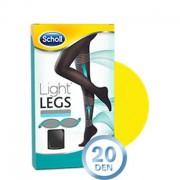Scholl Light Legs Meias de Compressão 20DEN Cor Preta Tamanho XL