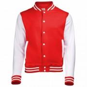AWDis College jacket/vest rood/wit voor heren