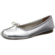 Clarks Women's Silver Leather Pumps - 5.5 UK/India (39 EU)