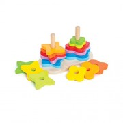 Hape-Wooden Double Rainbow Stacker
