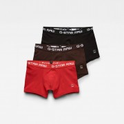 G-star RAW Hommes Classic Trunk Color 3-Pack Rouge