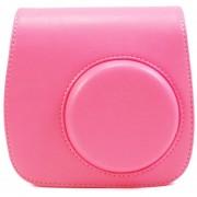 Para Fujifilm Fuji Instax Mini 8 9 Cámara de película PU Bolsa de cuero Cubierta de hombro