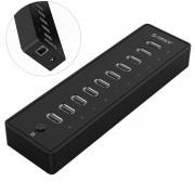 ORICO P10-U2 480Mbps 10 Ports USB2.0 Hub - US Plug