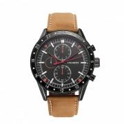 CAGARNY 6828 moda 3 relojes de cuarzo sub-dial hombres - marron