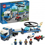 LEGO City 60244 Policía: Camión de Transporte del Helicóptero