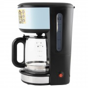 Cafetiera Russell Hobbs Colours Plus Heavenly Blue 20136-56, 1000W, capacitate 1.25L, 10 cesti, Albastru/Negru