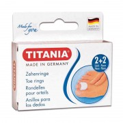Titania Set Pedichiura (Inele Protectoare Degete Mici 2buc + Inele Protectoare Degete Mari 2buc)