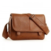 Men Retro Messenger Business Pu Leather Crossbody Bag Outdoor Casual Shoulder Bag