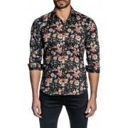 Jared Lang Paisley Trim Fit Shirt BLACK PRINT