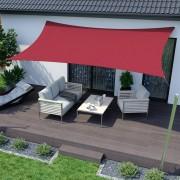 Jarolift Żagiel przeciwsłoneczny prostokątny, Czerwony, 3 x 2 m, Z tkaniny wodoodpornej