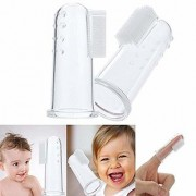 Doberyl Soft Silicone Baby Finger Massage Toothbrush with Small Box (Transparent)