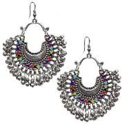 D G Jewellery Trendy Multicolor Oxidised Plating Afghani Earring For Girls Women