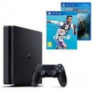 Конзола PlayStation 4 Slim 500GB Black, Sony PS4+Игра FIFA 19 за PlayStation 4+Игра God of War за PLAYSTATION 4