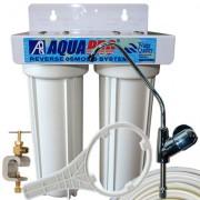 Purificateur d'eau sous évier 2 étapes - Sans cartouche