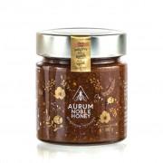 Crema de miere cruda poliflora, alune de padure rumenite, pudra de roscove si sare de mare 300g