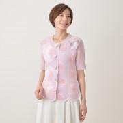 透かしフラワーパッチワークジャケット【QVC】40代・50代レディースファッション