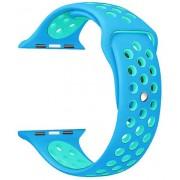 Wotchi Silikonový řemínek pro Apple Watch Modrá/Tyrkysová 42/44 mm