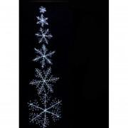 5 Piezas Copo de Nieve Colgante del Árbol de Navidad Decoración de Navidad Blancos Ornamentos de Copo de Nieve 18cm