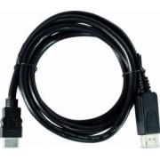 Cablu video LogiLink DisplayPort tata la HDMI A tata 1m Negru