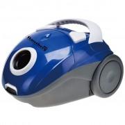 Aspirator cu sac Hausberg HB-2080A, 750 W, sac 1 L, Albastru