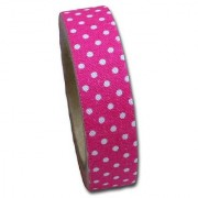Maya Road FT2513 Candy Dots Fabric Tape for Crafting Pink Punch