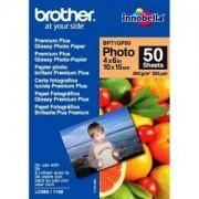 Хартия Brother Premium Plus Glossy Photo Paper, 50 Sheets, 4' x 6' - BP71GP50