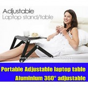 Adjustable Vented Laptop Table Laptop Computer Desk Portable Bed Tray Book Stand