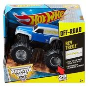 Hot Wheels Monster Jam Rev Tredz Purple Grave Digger Legend Vehicle