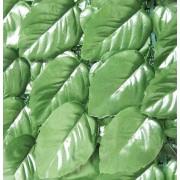 confine Siepe Lauro Plus Mt. 1x3 Siepe Artificiale Lauro Finto Arella Sintetica Sempreverde Mt. 1x3 Con Rete Ombreggiante Sul Retro Colore Verde - Lauro Plus