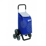 Sacoşă de cumpărături pe rotile Gimmi Tris Floral, albastru, 56 l