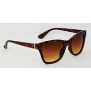 Hrinkar Cat-eye Sunglasses(Brown, Clear)