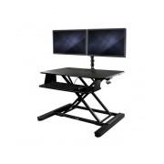 """StarTech.com Soporte y Escritorio para 2 Monitores máx. 24"""", hasta 12.7Kg, Negro"""
