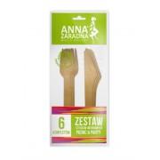 Set tacamuri ecologice din lemn - 6 furculite cu 6 cutite,Anna Zaradna