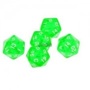 Alcoa Prime New 5pcs/Set TRPG Games Dungeons & Dragons D20 Multi Sided Dices Set - Green