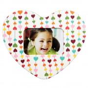 Magnet inimă inserție foto - model inimi (set 10 buc)