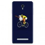 Husa silicon pentru Allview E4 Lite ET Riding Bike Funny Illustration