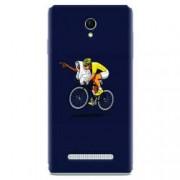 Husa silicon pentru Allview E4 Lite ET Riding Bike Funny Illustration
