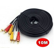 10 Meter 3 RCA to 3 RCA Cable RCA 3x Male to Male Stereo Audio Cable