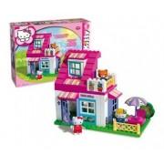 Set constructie Unico Plus Hello Kitty Casuta cu terasa