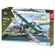 Joc constructie, My Army, Avion militar biplan, 402 piese Blocki